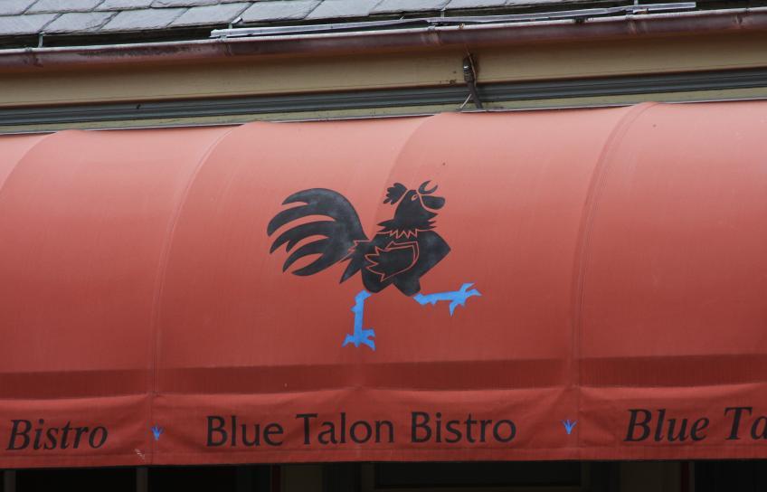 Blue Talon Bistro awning