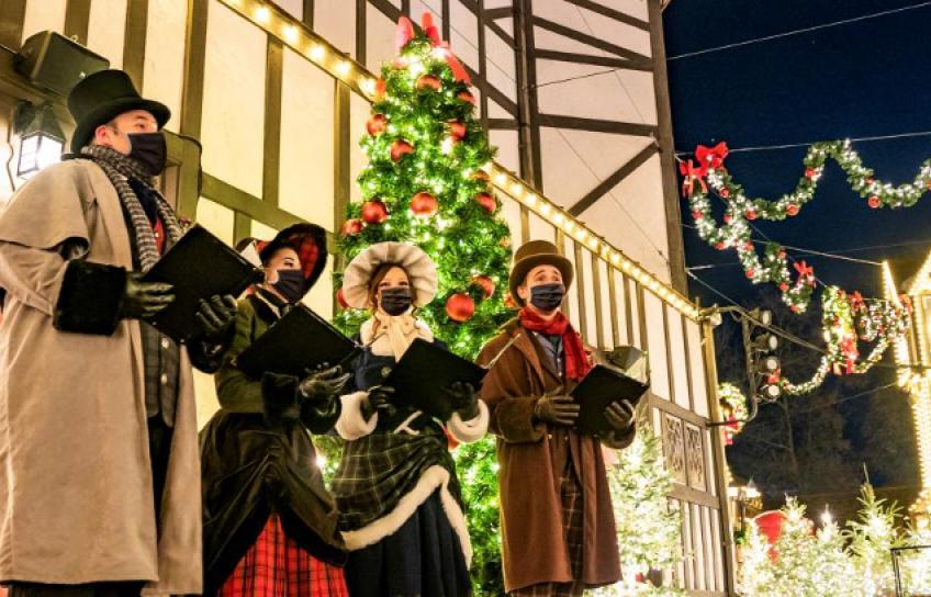 Busch Gardens Holiday Carolers