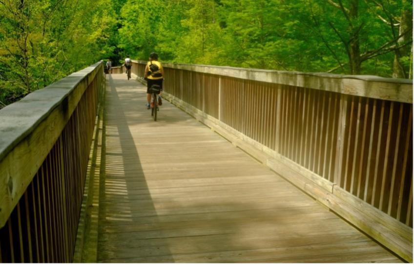 Cycling on Boardwalk