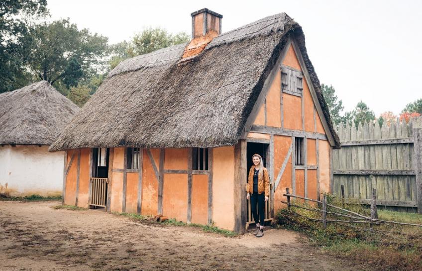 Jamestown Settlement Cottage