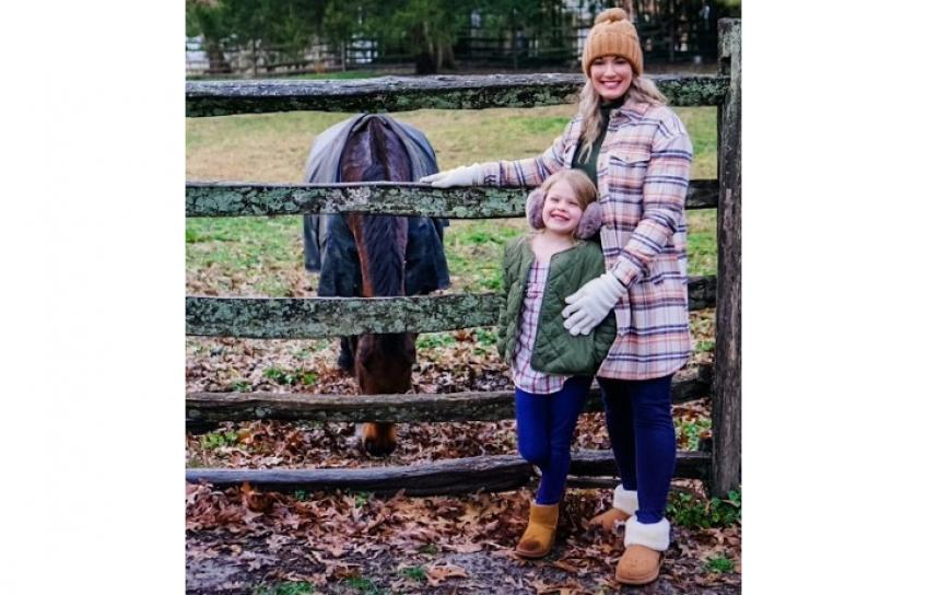 Kalyn and Daughter With a Horse