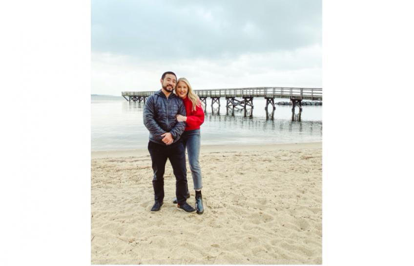 Leah Bandoni and Husband at the Beach