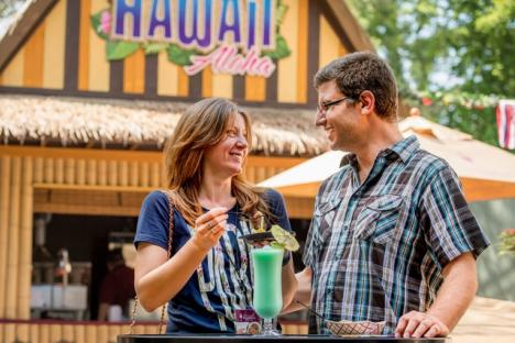Hawaii kiosk at Busch Gardens Food & Wine Festival in Williamsburg, Virginia