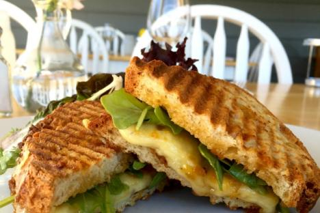 Local grilled cheese sandwich made with Lusk cheese from Mountain View Farms in Fairfax, VA!