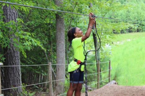 Ziplining at Go Ape