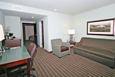 Suites with full living area and sofa bed