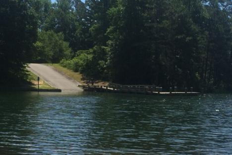 Boat ramp at Little Creek Reservoir Park