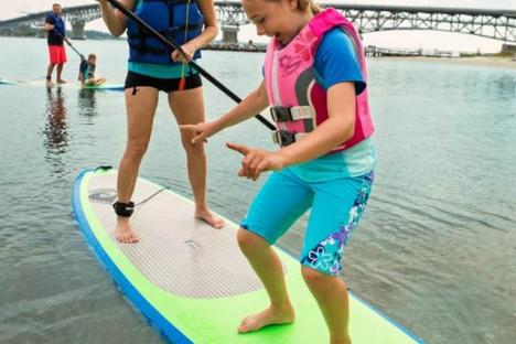 Rent a paddle board to explore the York River at your own pace!