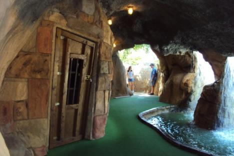 Putt through caves and past pirate dungeons...if you dare!