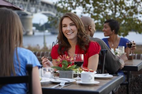 Riverwalk Restaurant offers an upscale menu with beautiful indoor and outdoor seating options