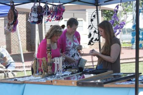 At Yorktown Market Days, you'll find produce, meats, baked goods, and work from local artists