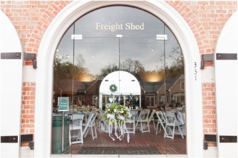 The Freight Shed, located right on the York River, is available to rent for meetings, weddings, and other special events.