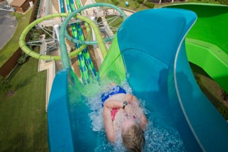 Get ready for the slide of your life on Water Country USA's epic drop slide: Vanish Point®