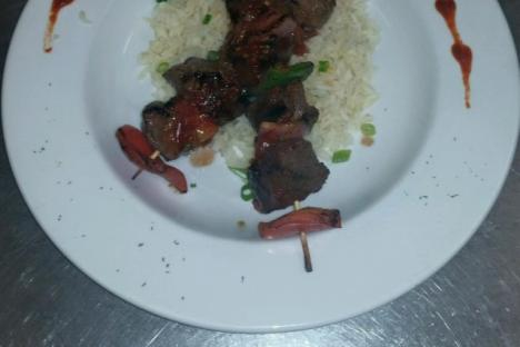 Beef Kabob Special running at Aromas, Nightly!