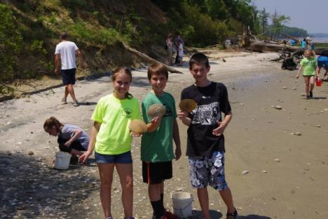 Fossil hunting is a popular activity