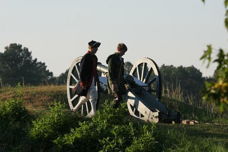 Reenactments at the Battlefield