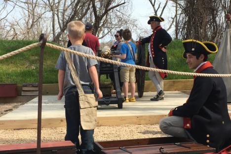 Artillery demonstrations at the American Revolution Museum at Yorktown