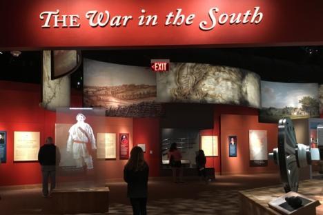 American Revolution Museum at Yorktown exhibition galleries.
