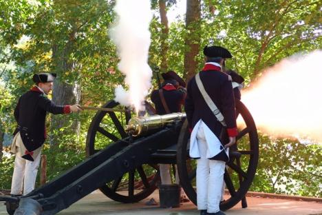 Artillery firing demonstrations held daily at the Yorktown Victory Center.