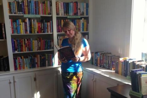 Yorktown Bookshop reading nook at Riverwalk Landing
