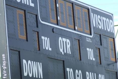 Wanner Stadium scoreboard