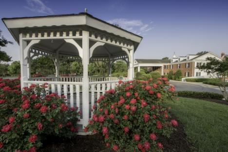 Gazebo on at the resort for guests to enjoy