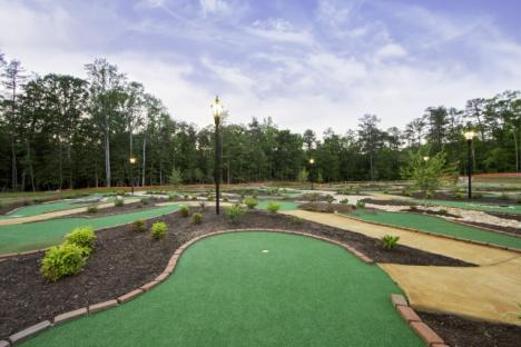 Enjoy playing a round of mini golf