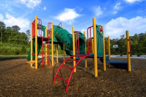 Children can have fun playing on the outdoor playground