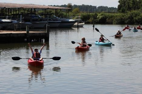 Kayakers at the James City County Marina