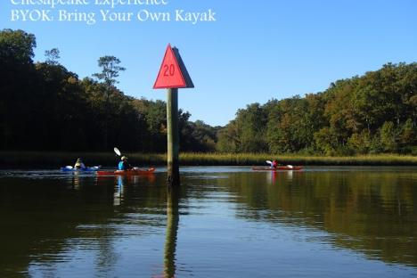 BYOK participants paddle the picturesque Queens Creek in October.