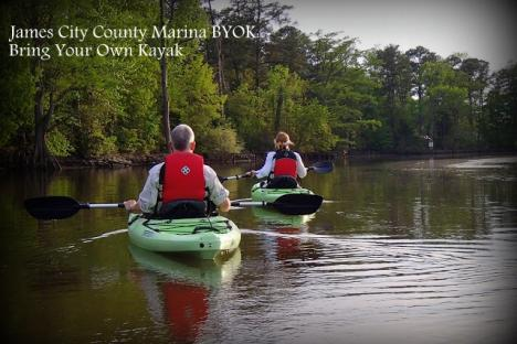 Paddlers on the scenic Powhatan Creek