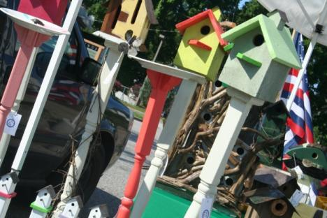 Birdhouses by a ocal artist were another highlight af the offerings from Art in the 'Burg in 2015