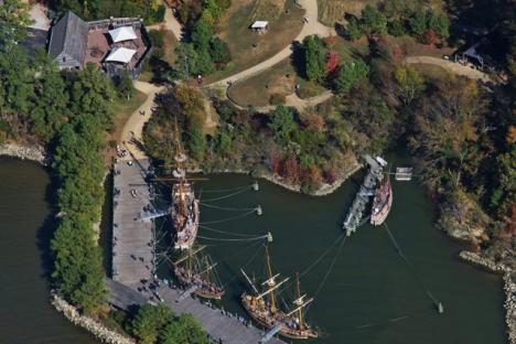 Jamestown Settlement from the air