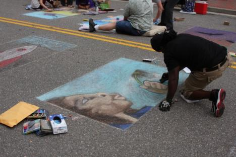 Amazing chalk art creations as you watch!