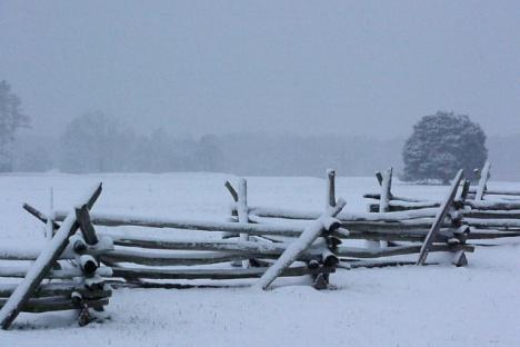 Snow covered Battlefield