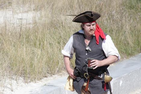 Riverwalk filled with pirates!
