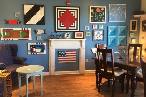 Art Galleries such at Auntie M's American Cottage will add fun to the morning at Riverwalk Landing.