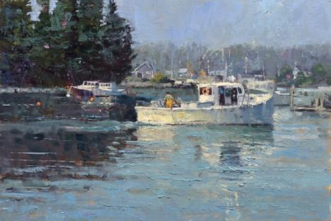 Neal Hughes - 'Port Clyde Morning', oil
