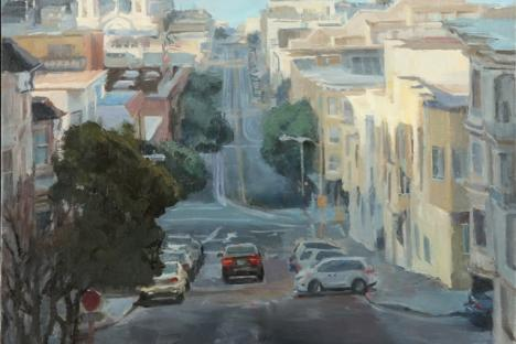 Cathy Boyer - Long View from Taylor, oil
