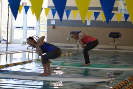 Indoor Paddle Yoga