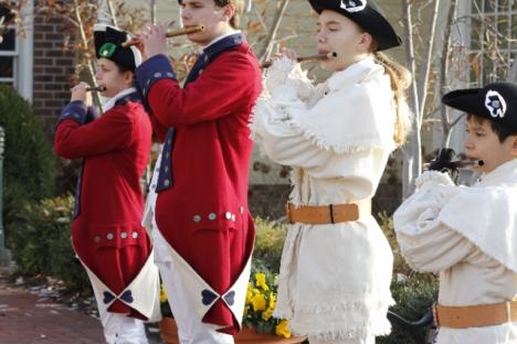 Fife and Drums will greet you!