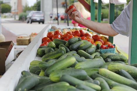 Fresh and local farm veggies