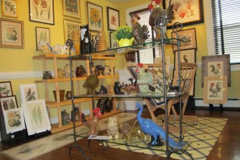 Antique & reproduction prints and southern pottery offered by Black Dog Gallery