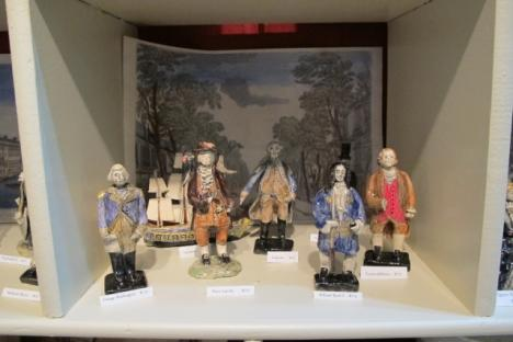 Black Dog Gallery offers charming ceramic historical figures by Andrea Kashanipour