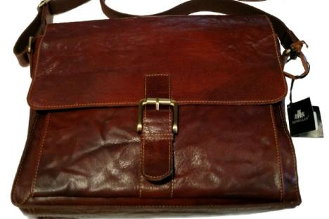 Leather messenger bags for men & women