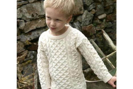 Children's Irish Merino wool sweater
