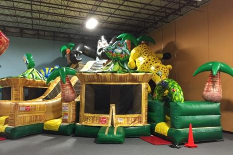 Jungle Triple Slide Inflatable