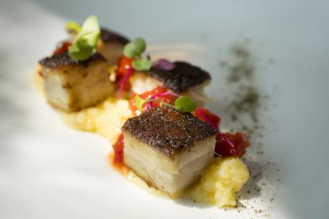 Slow Roasted Pork Belly Appetizer