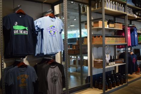 Merchandise at the Alewerks Tasting Room