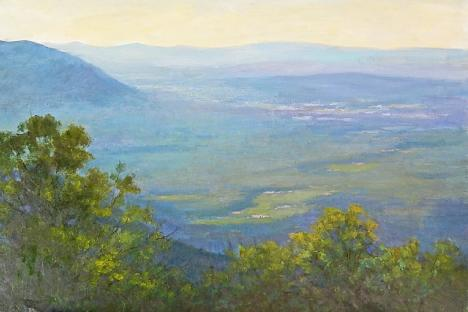 """Blue Ridge Mountains in the Evening Light"" by Julia Lesnichy"
